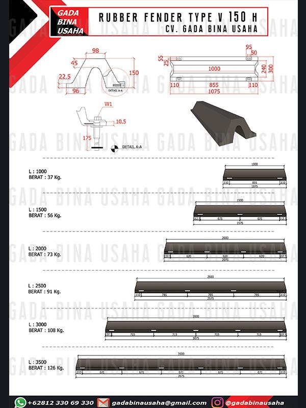 Rubber Fender V 150 H